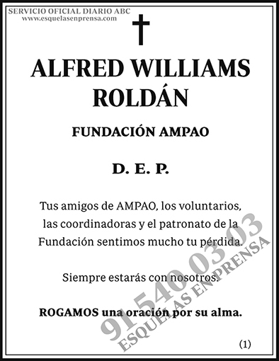 Alfred Williams Roldán
